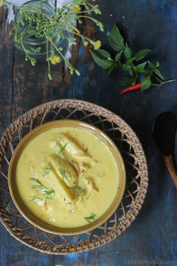 Himachali Aloo Palda - a simple potato and yogurt curry from the mountainous regions of North India / Pahadi Cuisine