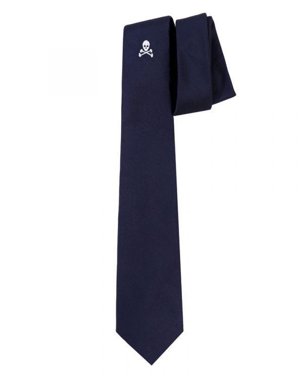 Corbata scalpers calavera navy blue