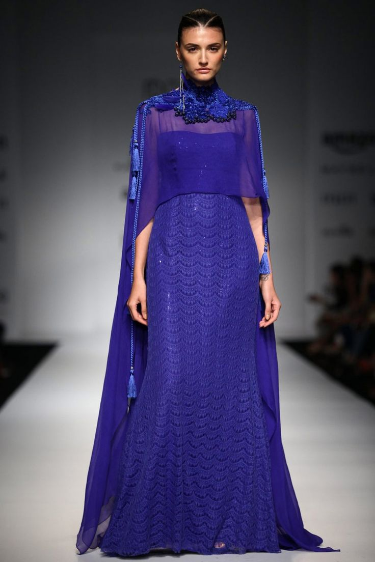 capes solid fashion-week floor-length gowns with tassels designer