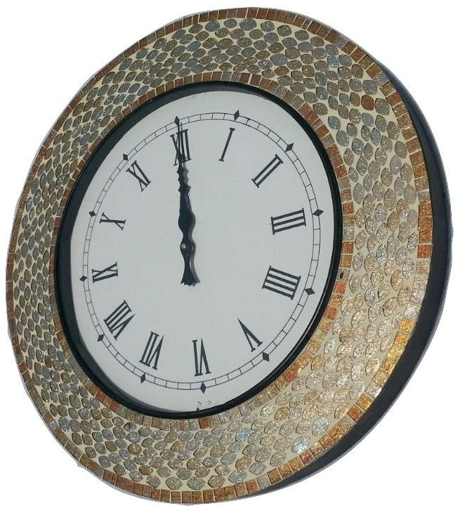 Handcrafted Designer Mosaic wall Clock