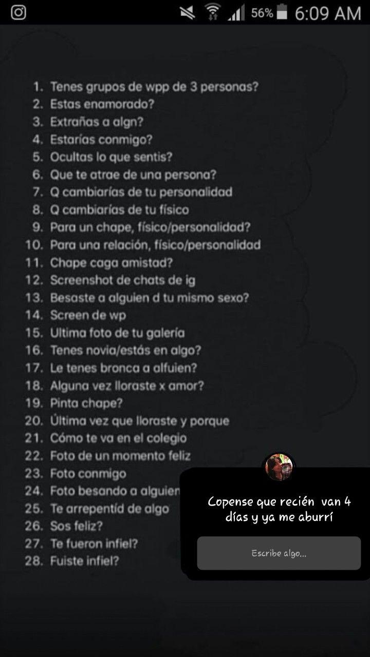 Preguntas Retos Para Instagram Juegos Para Instagram Historias De Instagram