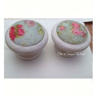 Decoupaged drawer or cupboard knobs