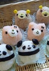 Kawaii Animal Party Onigiri Rice Ball © mahkny|アニマルおにぎり