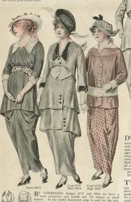 1915 period dress | Fashion Plates Spring 1915. The middle one.