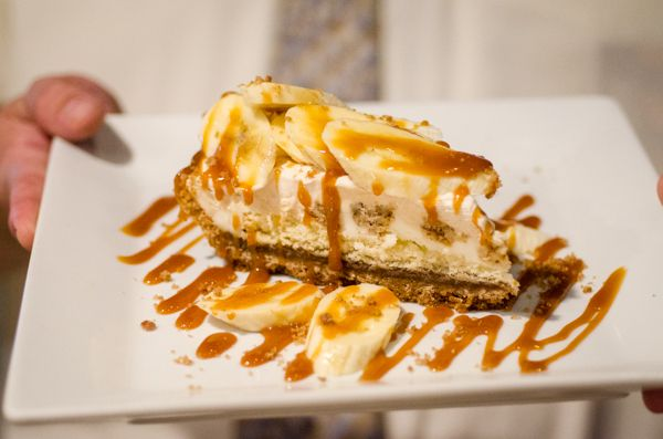Favorite Dessert: Banana Foster Pie: Hands down, one of the best banana foster dishes we've tried. #GiveThanksPintoWin #SKECHERSGiveThanksPintoWin
