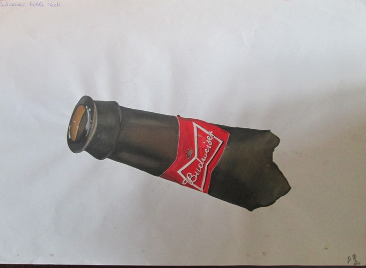 #4 Budweiser Watercolour Illustration