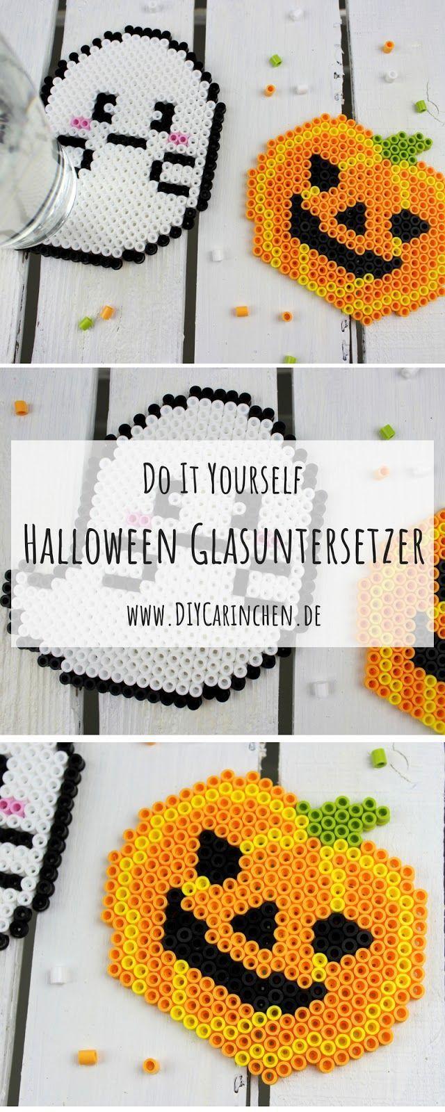 DIY Süße Halloween Gespenster Glasuntersetzer einfach selber machen