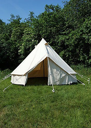 Live Action Role Play Tent Merglin 3m 340gsm, Natural Medieval Knight Tent Camping Tent Viking