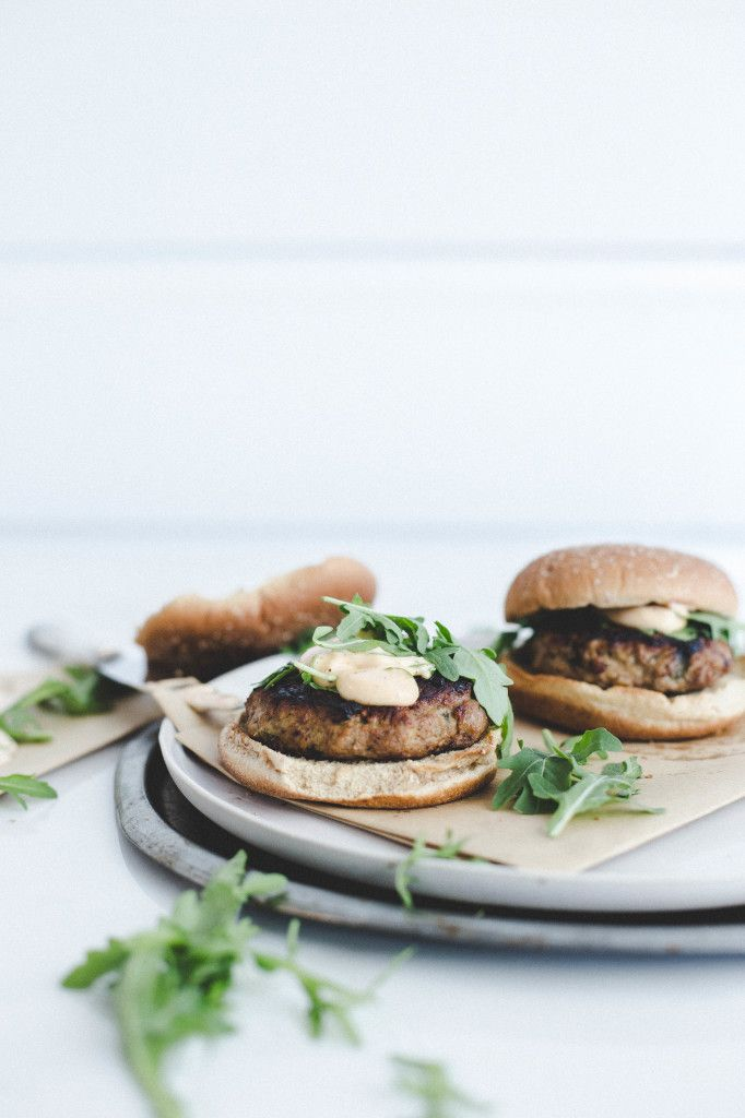Lime Chicken Burgers with Chipotle Lime Mayonnaise