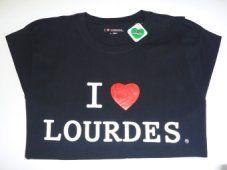 Men's Lourdes Black T-Shirt.