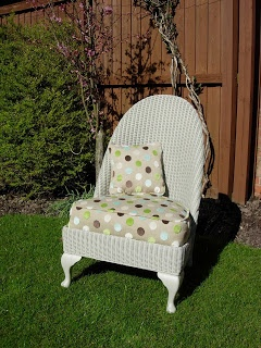 Dajon Designs: Revamp Lloyd Loom Nursing chair