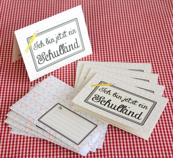 Einschulung Schulkind Einladung 5er Set  von *Cherry Picking* auf DaWanda.com