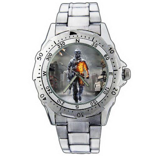 PE265 Battlefield 3 PC Game Stainless Steel Wrist Watch >>> For more information, visit image link.(This is an Amazon affiliate link)