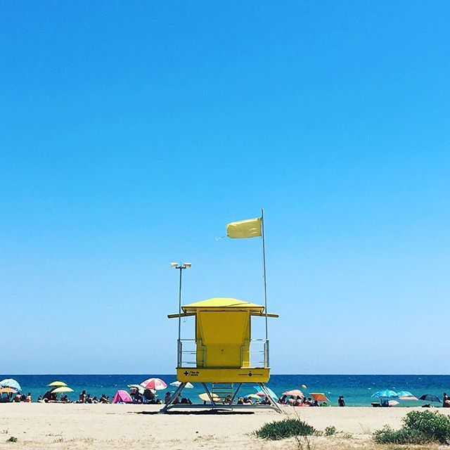 On the beach #yellowflag