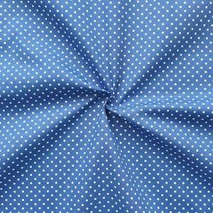 """Baumwollstoff """"Tupfen Klein"""" Farbe Kobalt-Blau"""