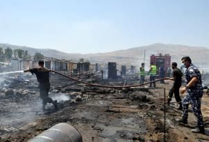 Fire Rips Through Syrian Refugee Camp