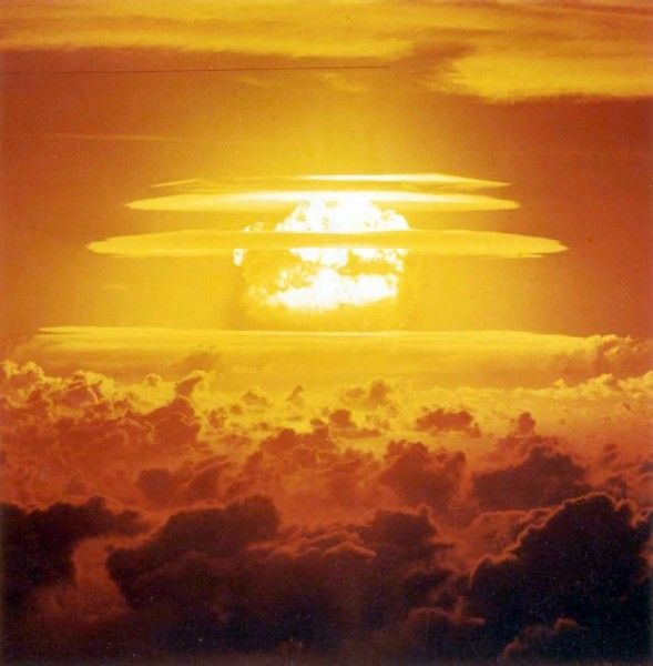 """March 1, 1954:  Project; Castle Bravo, the United States first """"dry fuel"""" hydrogen bomb is tested In the Marshall Islands,"""