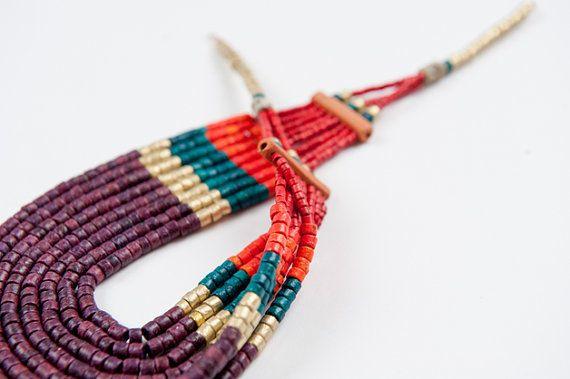 Ceramic jewellery from Colombia by KOKOworld on Etsy www.kokoworld.pl #kokoworld #fairtrade #handmade #necklace #colombia #ethno