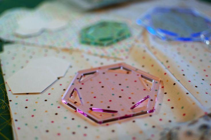 Plantillas para hacer hexágonos de patchwork