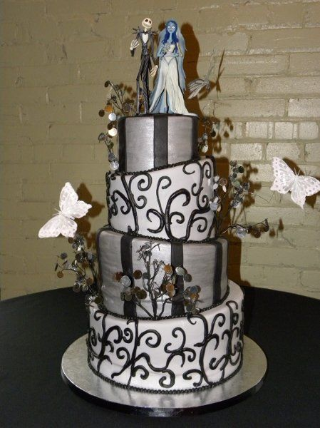 wedding cakes christmas wedding nightmare before and