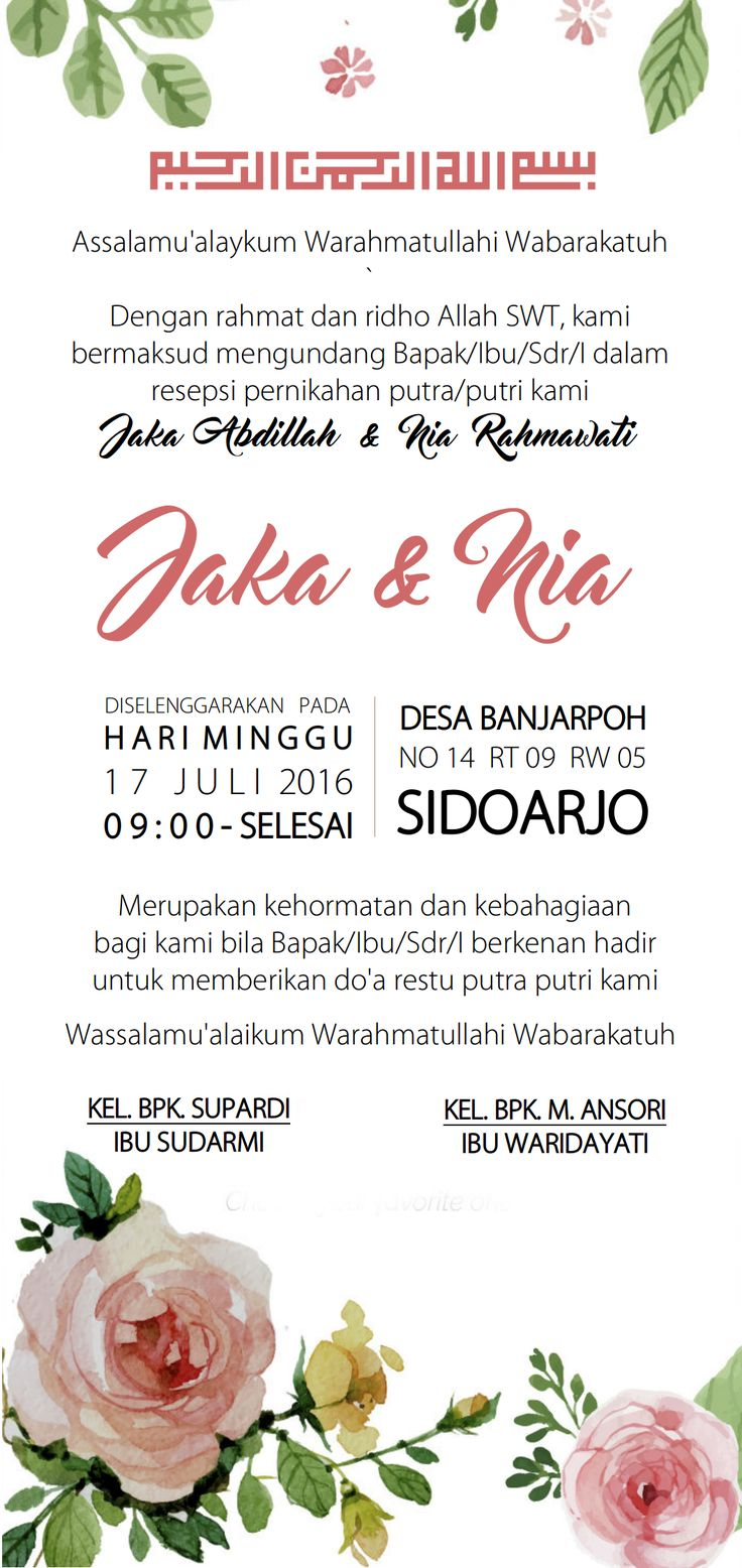 Jaka's version invitation  #wedding #invitation #pink #simple #green