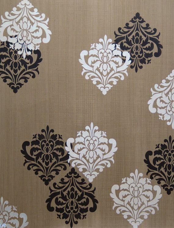 Wall Stencil   Ornamental Flower Wall Stencil   Royal Design Studio