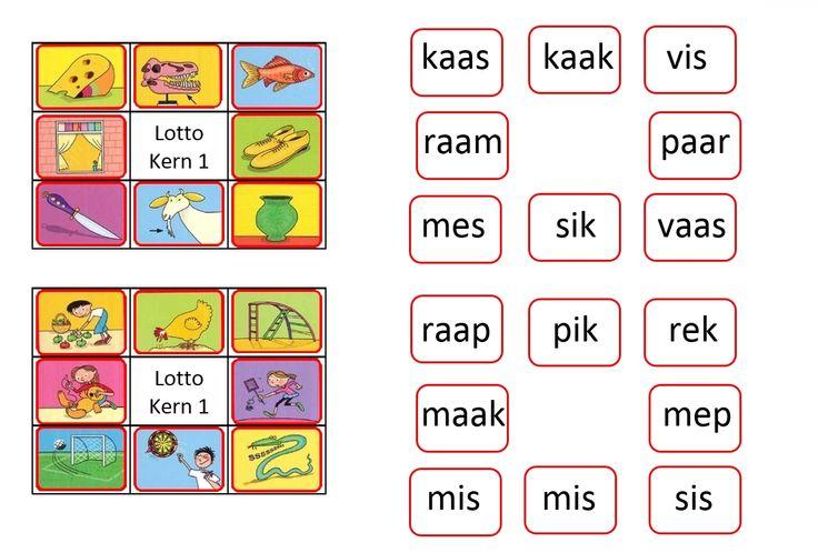 Veilig leren lezen Kim-versie. Lotto kern 1