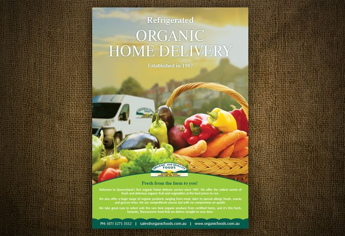 Organic Food Delivery Poster/Flyer Design