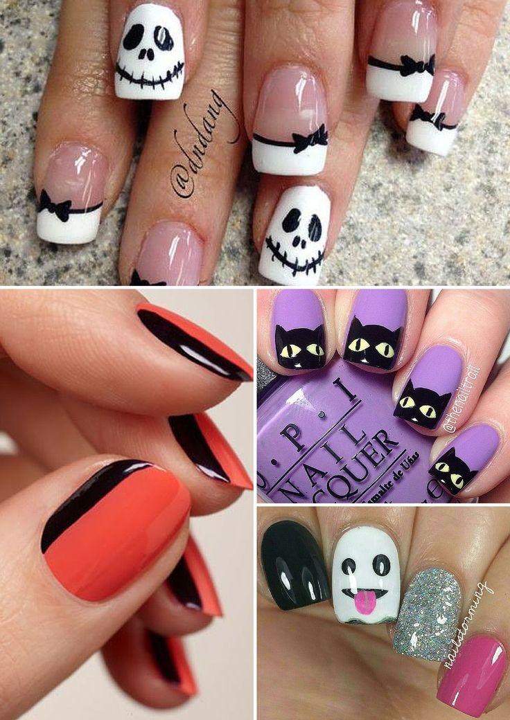 10-unhas-para-halloween. halloween nail art. unhas decoradas halloween. unha dia das bruxas. unhas para festa a fantasia. unha de gato. unha de múmia. unhas de morcego.
