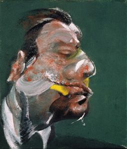 Study for Head of George Dyer, 1967 oil on canvas, 35.5 x 30.5 cm private collection