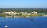 Arial shot of Safety Harbor Spa and Hotel.