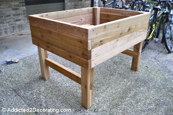 How To Build An Elevated Garden: two of these by the garage will equal a summer of good eats!