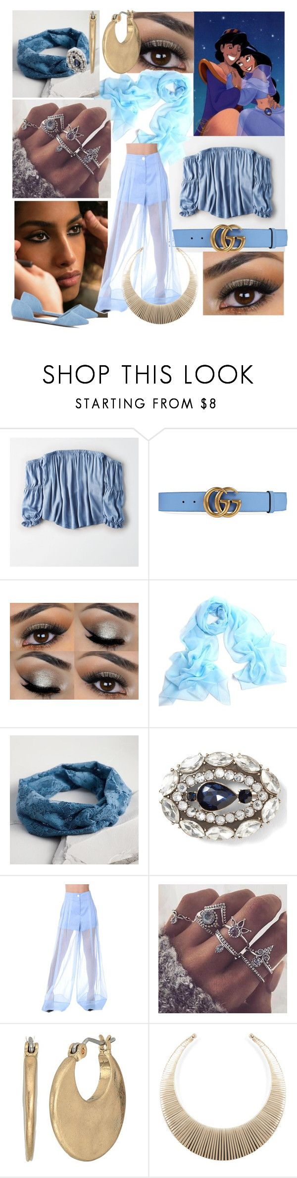 """Princess Jasmin #fashion #Disney #Jasmin #princessJasmin"" by margosedih ❤ liked on Polyvore featuring American Eagle Outfitters, Gucci, Cost Plus World Market, Emilio Pucci and The Sak"