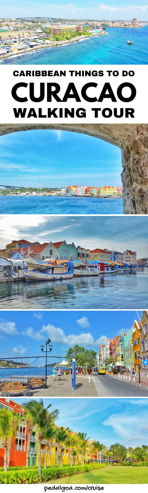 For things to do in Curacao on a Caribbean cruise without excursions, including taking instagram pictures near Curacao cruise port! You'll pass by a shopping mall and fort to get to downtown Willemstad with culture for more shopping and food to eat. Floating bridge, floating market, waterfront cafe. Budget-friendly activities when you're not taking a tour. Cruise tips for your southern Caribbean cruise to Curacao that might include Grand Turk, Aruba, Bonaire, Dominican Republic, or Barbados…