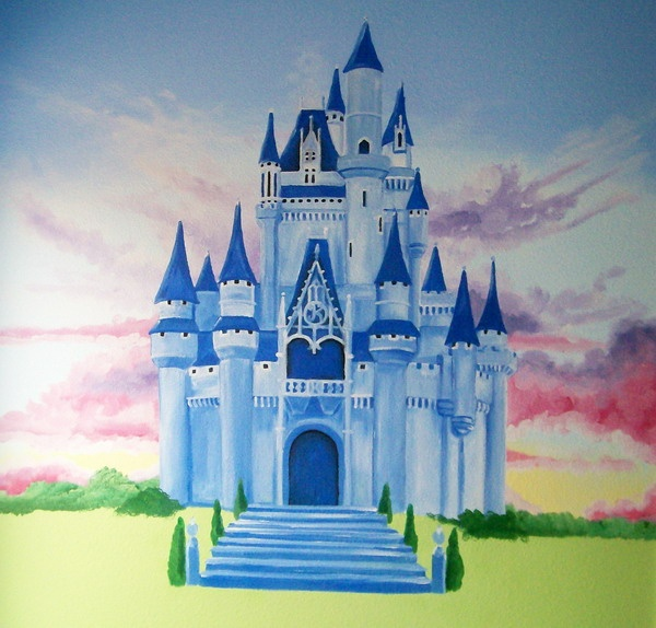 Best 25 castle mural ideas on pinterest princess mural for Disney princess castle mural
