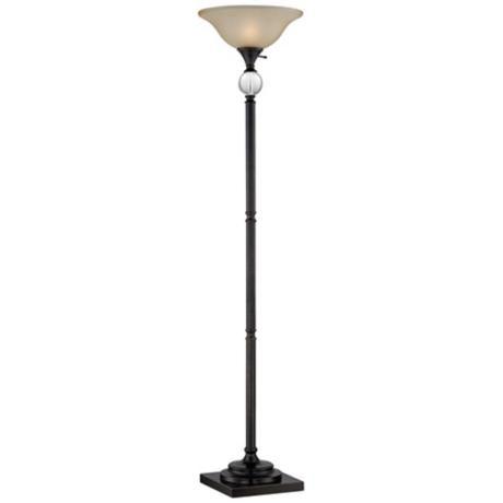 Laria crystal and bronze torchiere floor lamp 2x467 lampsplus com
