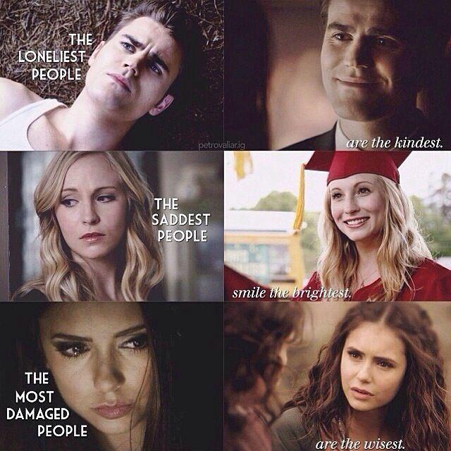 Stefan. Caroline. Katherine