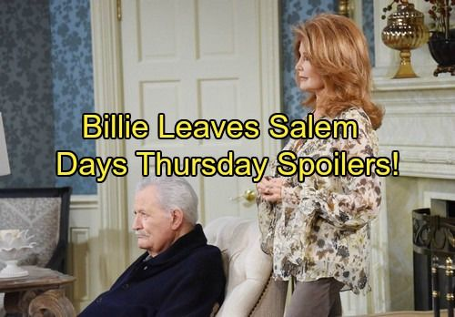 Days of Our Lives Spoilers: Thursday, February 22 – Billie Exits – Kate Blasts John – Will and Lucas Bond – Celeb Dirty Laundry