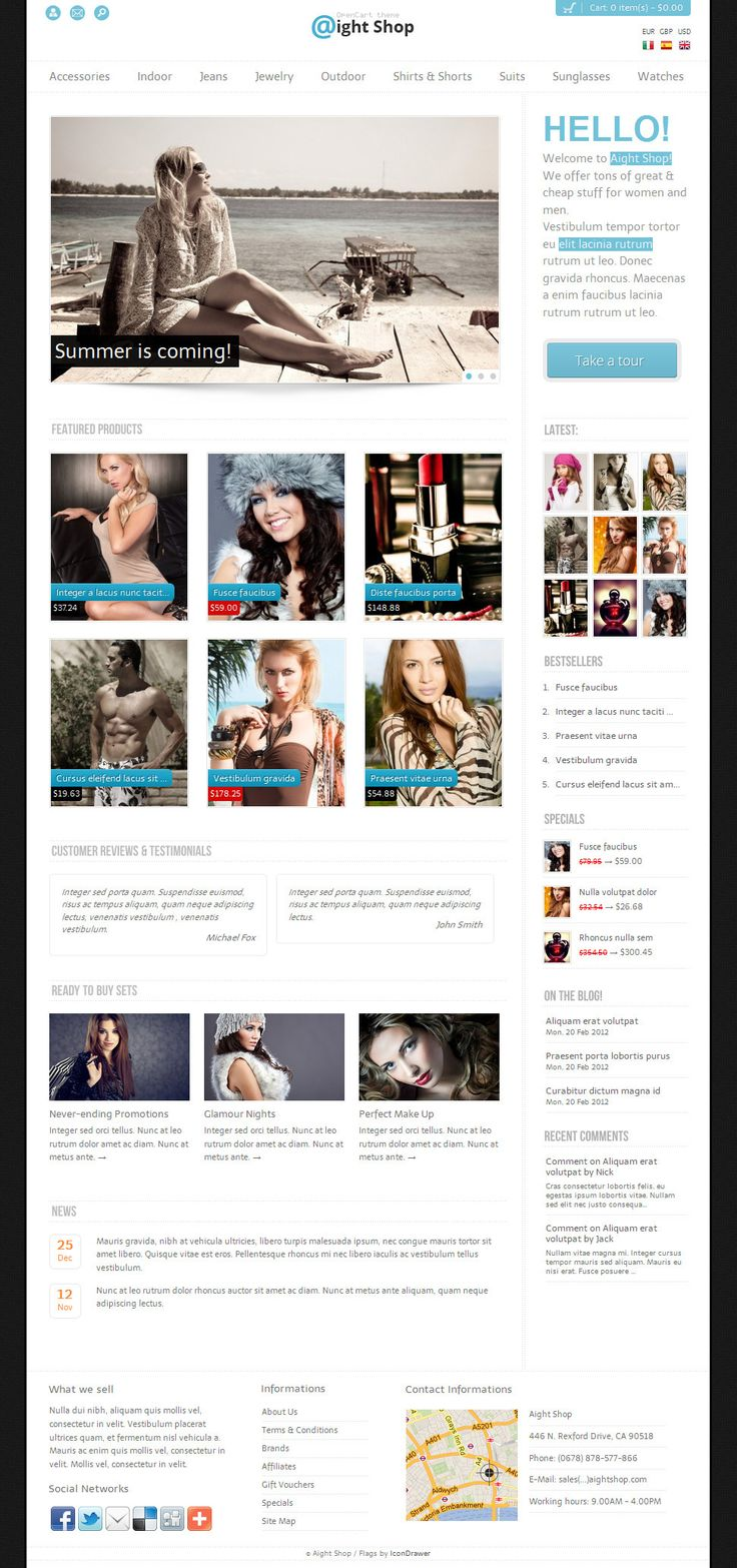 Aight Shop  OpenCart theme