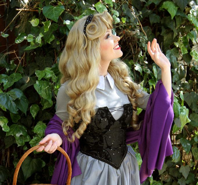 Sleeping Beauty Aurora Custom Adult Costume WIG A True Enchantment Original. $300.00, via Etsy.