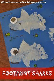 Footprint Sharks {Craft}
