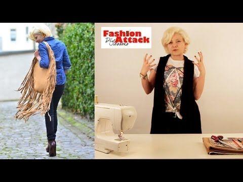 How to make a DIY Stella McCartney Falabella bag: Fashion Attack - YouTube