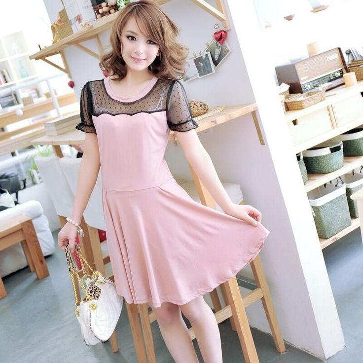 A2157 153 Size Free Bust 84-98 cm Shoulder 38 cm Skirt Length 78 cm Material Lace Cotton