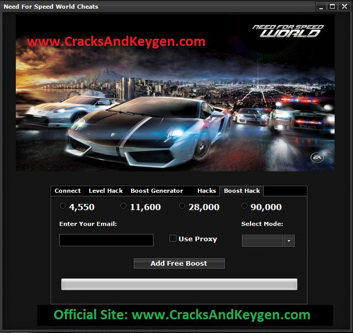 Need for Speed World Hack Boost