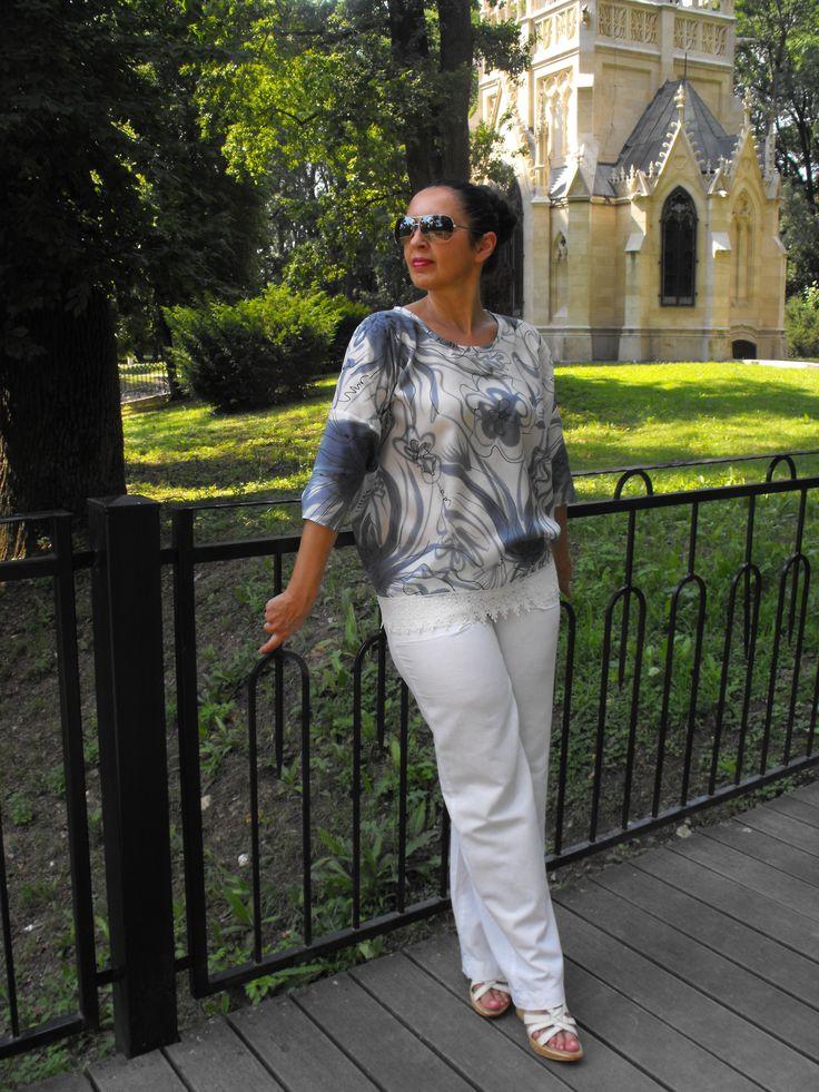 The summer top - 100% silk Habotai, hand painted - Ivana Cifranic
