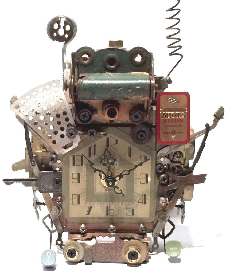 nice RICHARD BIRKETT NEW YORK STEAMPUNK SCULPTURE MIXED MEDIA INDUSTRIAL CLOCK Check more at https://aeoffers.com/product/arts-and-crafts-collectibles-handmade-online/richard-birkett-new-york-steampunk-sculpture-mixed-media-industrial-clock/