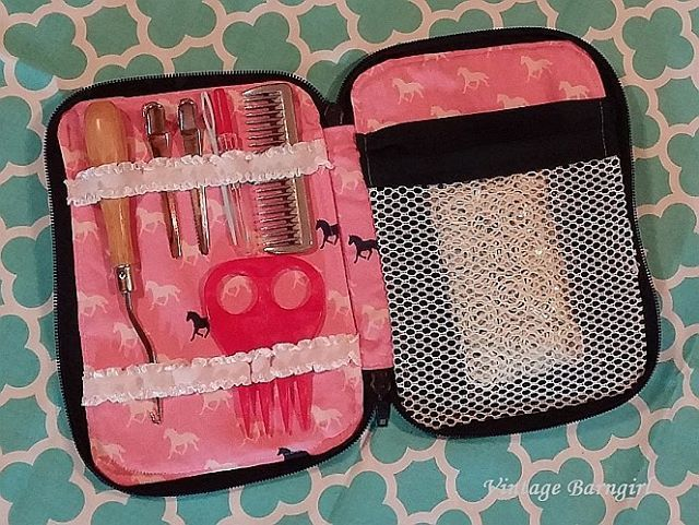 Creative Maker Supply Case made by Vanessa. She customized it for her horse grooming supplies!  Awesome!  I love to see how everyone uses my patterns.  Pattern by Sew Sweetness