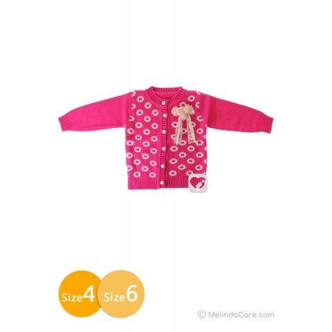 Sweater Bayi Perempuan Kancing (Fuchsia, Putih) Rp. 110.000 kunjungi: www.melindacare.com hubungi: 081321148408 atau 765BEE5E