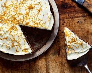 Parsnip cake with orange frosting recipe