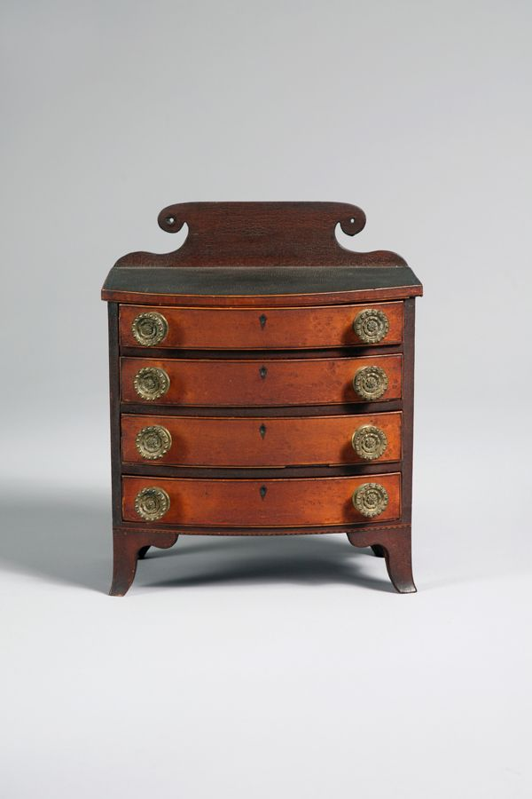 Miniature Hepplewhite Bowfront Chest of Drawers. Fine FurnitureAntique ... - 17 Best Images About Antique Children's Furniture On Pinterest